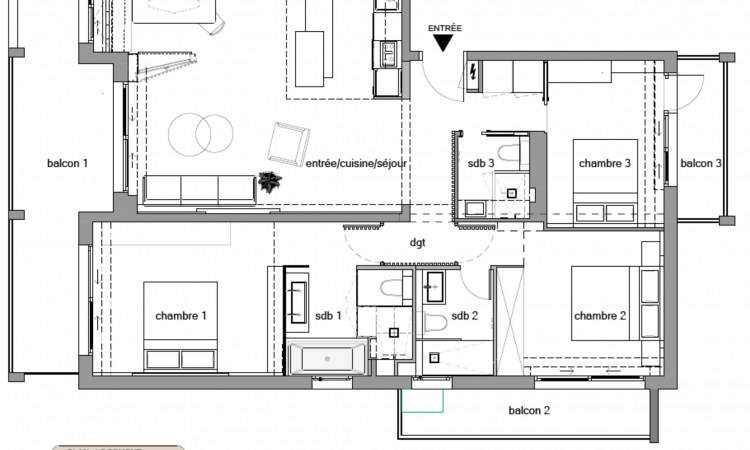 Gallery LUXURIOUS 2-ROOM FAMILY APARTMENT 7