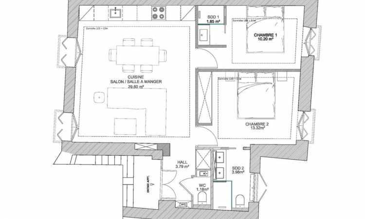 Gallery STYLISH 2 BEDROOM APARTMENT 5